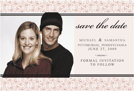 The, Engagement, Save, Date, Pictures, Damask, Simply so stylish