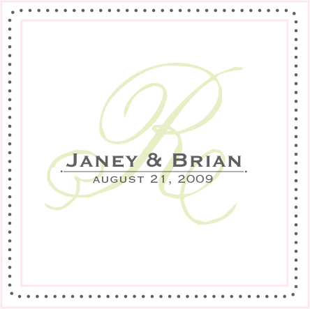 Square, Monogram, Names, Dots, Simply so stylish, Border