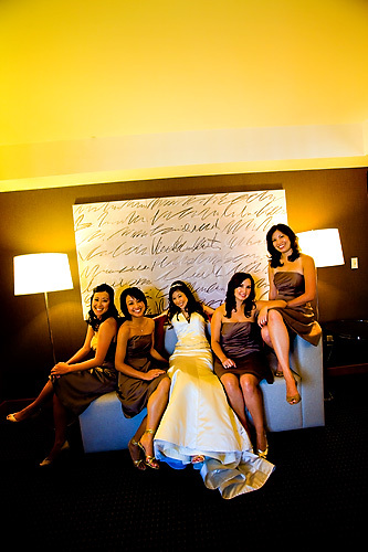 Bridesmaids, Bridesmaids Dresses, Wedding Dresses, Fashion, white, ivory, brown, gold, dress, City, Wedding, Asian, San, Francisco, Latte