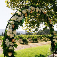 Flowers & Decor, ivory, Flowers, Roses, Peach, Hydrangea, Iron arch