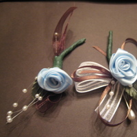 Flowers & Decor, blue, brown, Flower, Ribbon