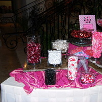 white, pink, black, Candy, Buffet