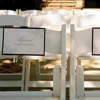 Ceremony, Flowers & Decor, ivory, blue, brown, Signs, Seating, Reserved