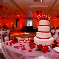 Reception, Flowers & Decor, Decor, red, Lighting, Roses, A flair for affairs - weddings events, Video screen