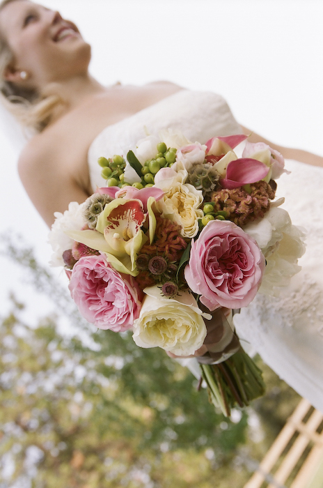 pink, green, Bouquet, Wedding, Winery, Country