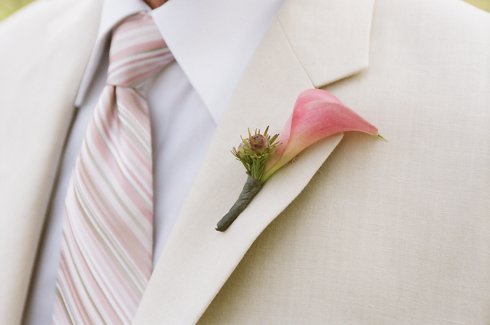 pink, green, Wedding, Boutonniere, Lily, Calla, Country, Winery