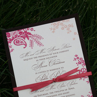 Stationery, orange, burgundy, Garden Wedding Invitations, Invitations, Wedding