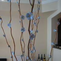 DIY, blue, Cherry blossom