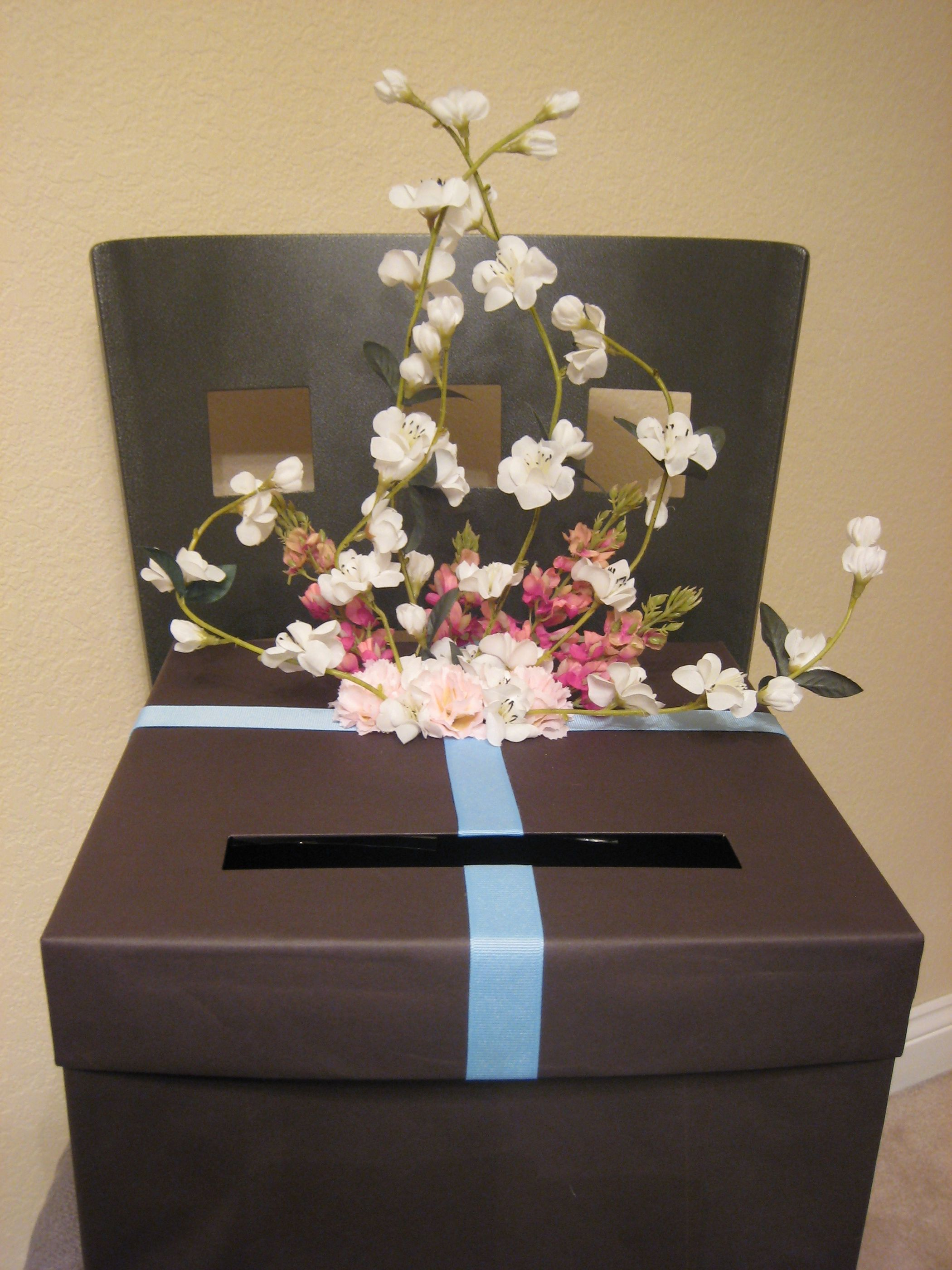 DIY, blue, brown, Guests, Card box, Cardbox