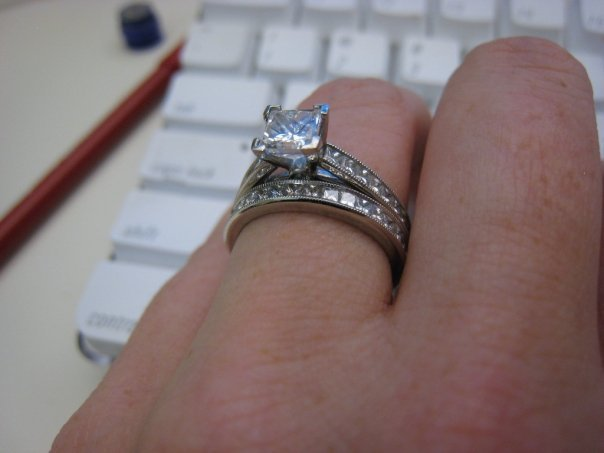 Jewelry, Platinum, Engagement Rings, Princess Cut Engagement Ring, Ring, Princess, Cut, Millgrain, Scott kay