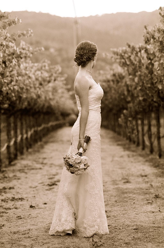 Beauty, Jewelry, Wedding Dresses, Fashion, dress, Chignon, Curly Hair, Bride, Hair, Curly, Vineyards