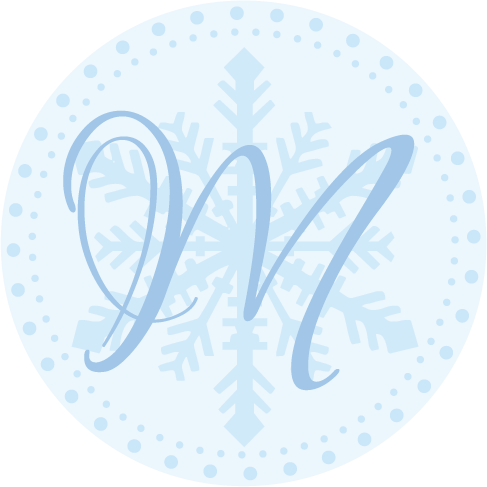 blue, Winter, Monogram, Wedding, Theme, Snowflake, Christmas, Simply so stylish