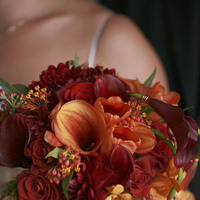 Flowers & Decor, orange, red, Bride Bouquets, Fall, Flowers, Fall Wedding Flowers & Decor, Bouquet, Fleurs de france