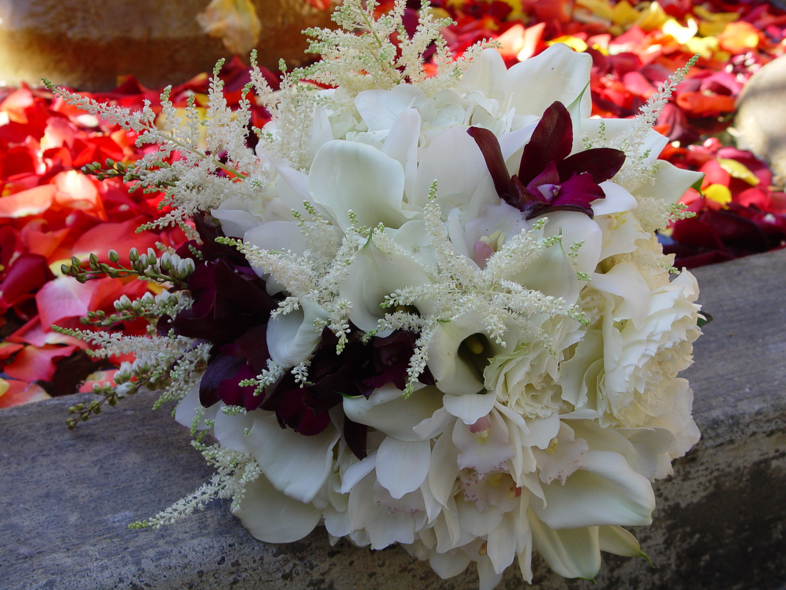 Flowers & Decor, white, Bride Bouquets, Flowers, Bouquet, Orchid, Calla, Lily, Fleurs de france