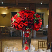 Reception, Flowers & Decor, red, Centerpieces, Flowers, Roses, Centerpiece, Fleurs de france