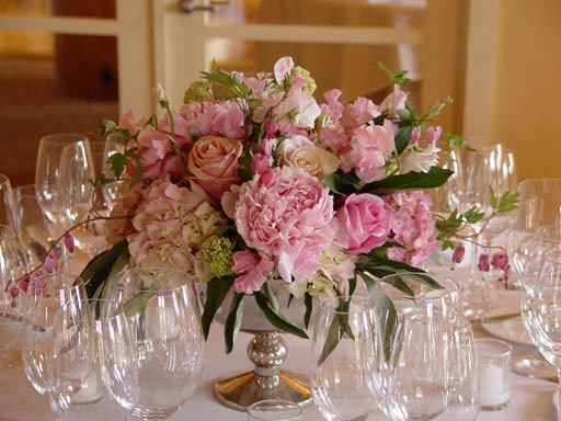 pink, Centerpieces, Garden Wedding Flowers & Decor