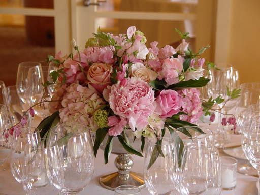 pink, Centerpieces, Garden Wedding Flowers & Decor