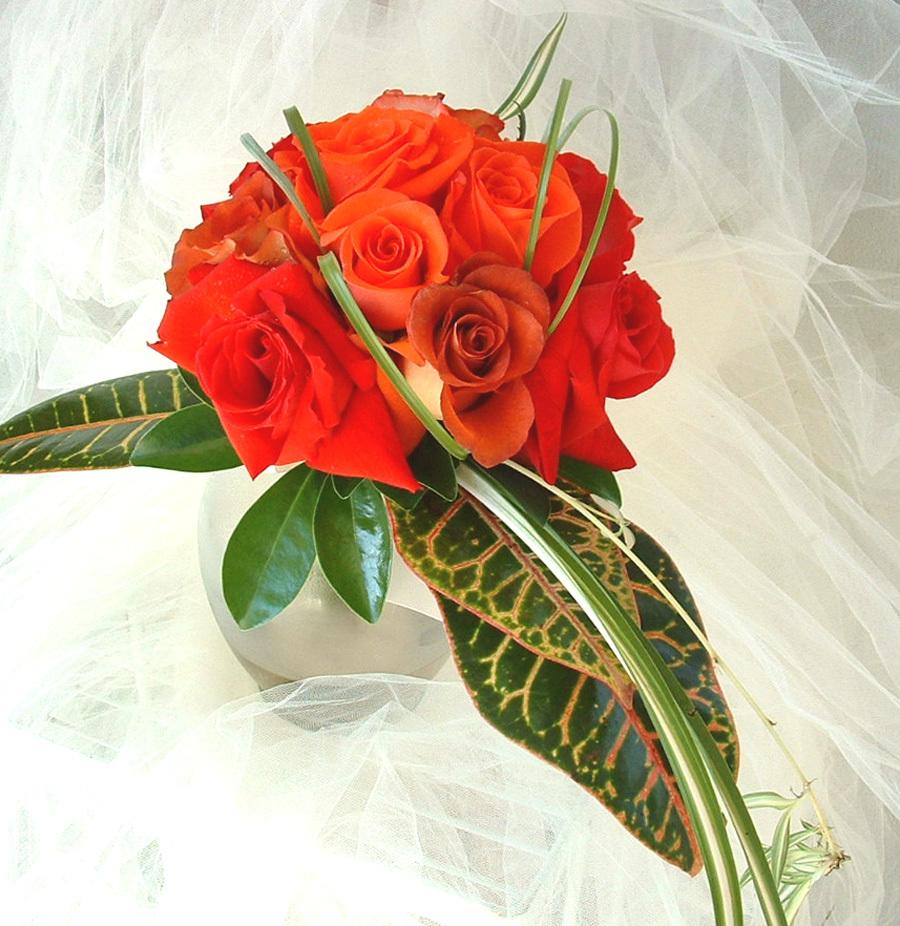 Roses, Bridesmaid, Bridesmaid bouquet, Flowers by fudgie