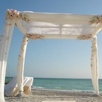 Ceremony, Flowers & Decor, pink, Beach, Beach Wedding Flowers & Decor, Chuppa, Canopy, Flowers by fudgie