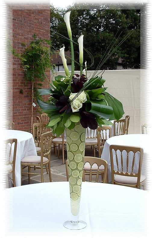Flowers & Decor, Centerpieces, Flowers, Lime, Centerpiece, Tall