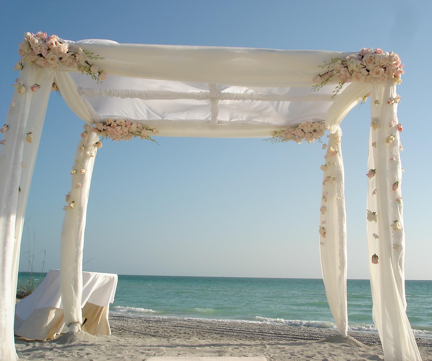 Ceremony, Flowers & Decor, pink, Beach, Beach Wedding Flowers & Decor, Chuppa, Canopy, Flowers by fudgie