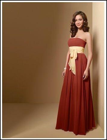 orange, Burnt, Bridesmaid dress, Alfred angelo
