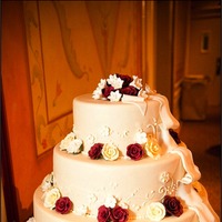 Cakes, white, red, cake, City, Wedding, Glamour