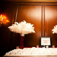 Beauty, red, Feathers, City, Wedding, Table, Card, Place, Glamour