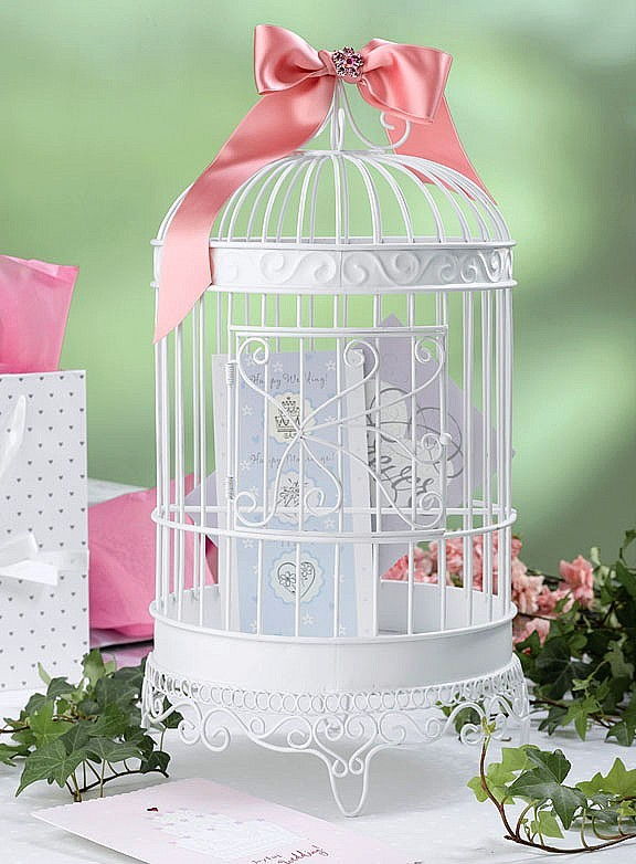 Cage, Bird, Birdcage, Card, Holder, Myweddingreceptionideascom, Wire