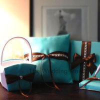 Reception, Flowers & Decor, blue, brown, Flower, Girl, Ring, Book, Tiffany, Basket, Pillow, Guest, Box, Card, Decoration, choco