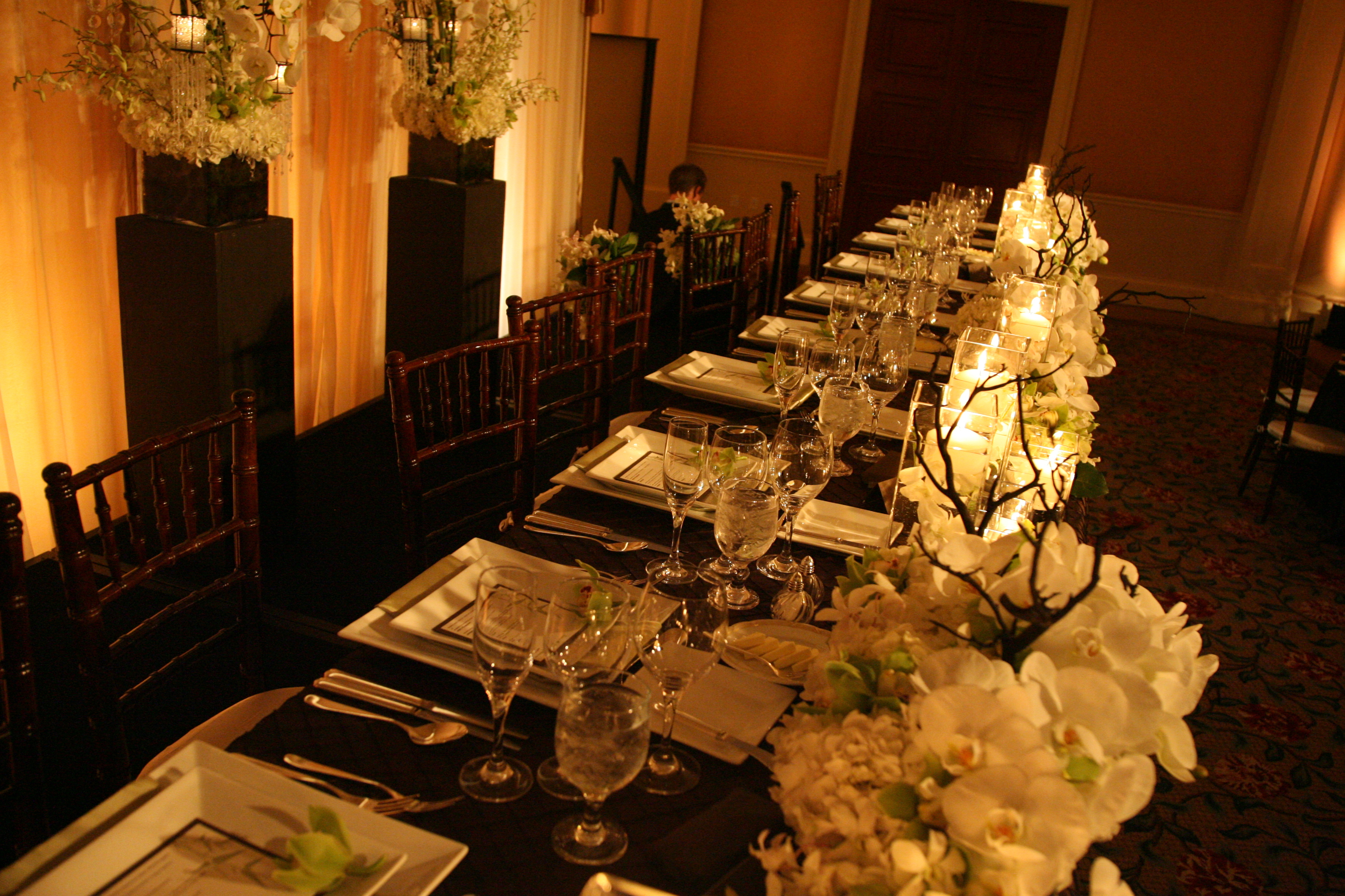 Orchid, Wedding, Table, Asian, Head, Settings