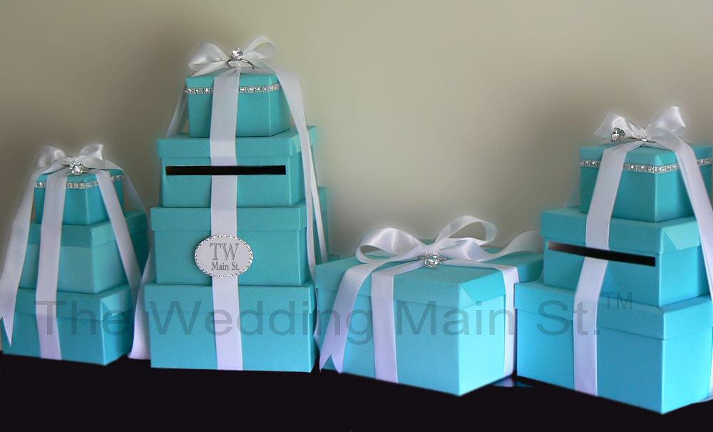 Reception, Flowers & Decor, blue, Centerpieces, Tiffany, Box, Card, Damask, Decoration, The wedding main st