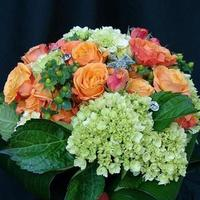 Flowers & Decor, orange, green, Bride Bouquets, Flowers, Bouquet, Swarovski, Crystals, Gardenpartytogocom