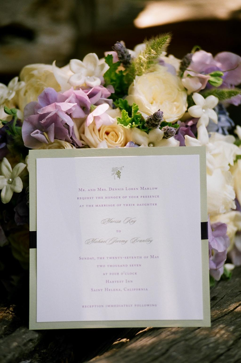 Flowers & Decor, Stationery, purple, Vineyard, Invitations, Wedding