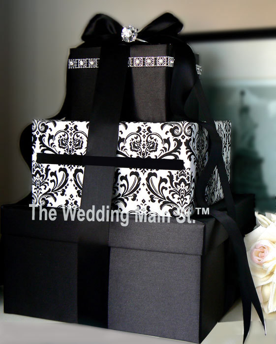 Damask Black Card boxvendors The Wedding Main St Project Wedding – How to Decorate a Wedding Card Box