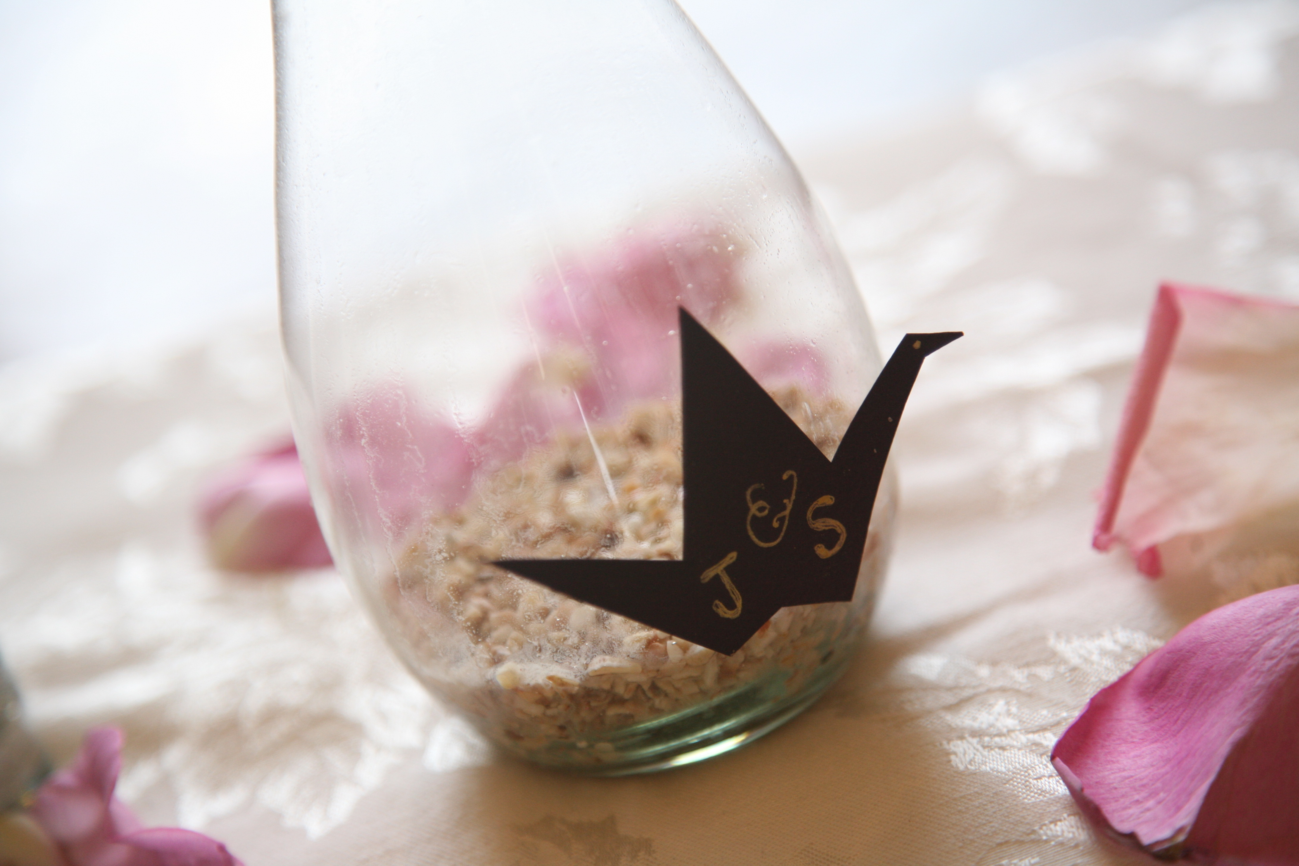 Ceremony, Flowers & Decor, Sand, Crane
