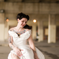 Bride, Allebach photography, Tattooed
