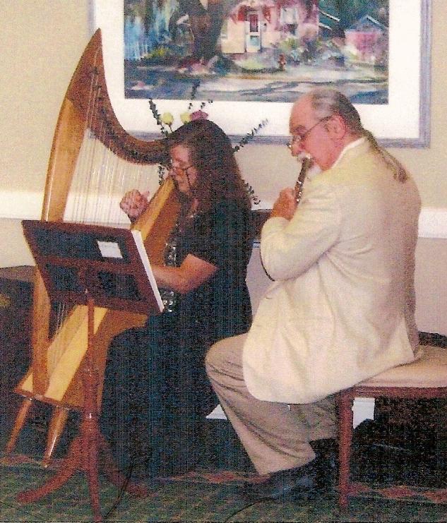 Ceremony, Flowers & Decor, Harp, Wedding, And, Music, Classical, Themed, Celtic, Flute, English, Duo, Irish, Sneddon sneddon - harp and flute, Scottish, British, Weddin