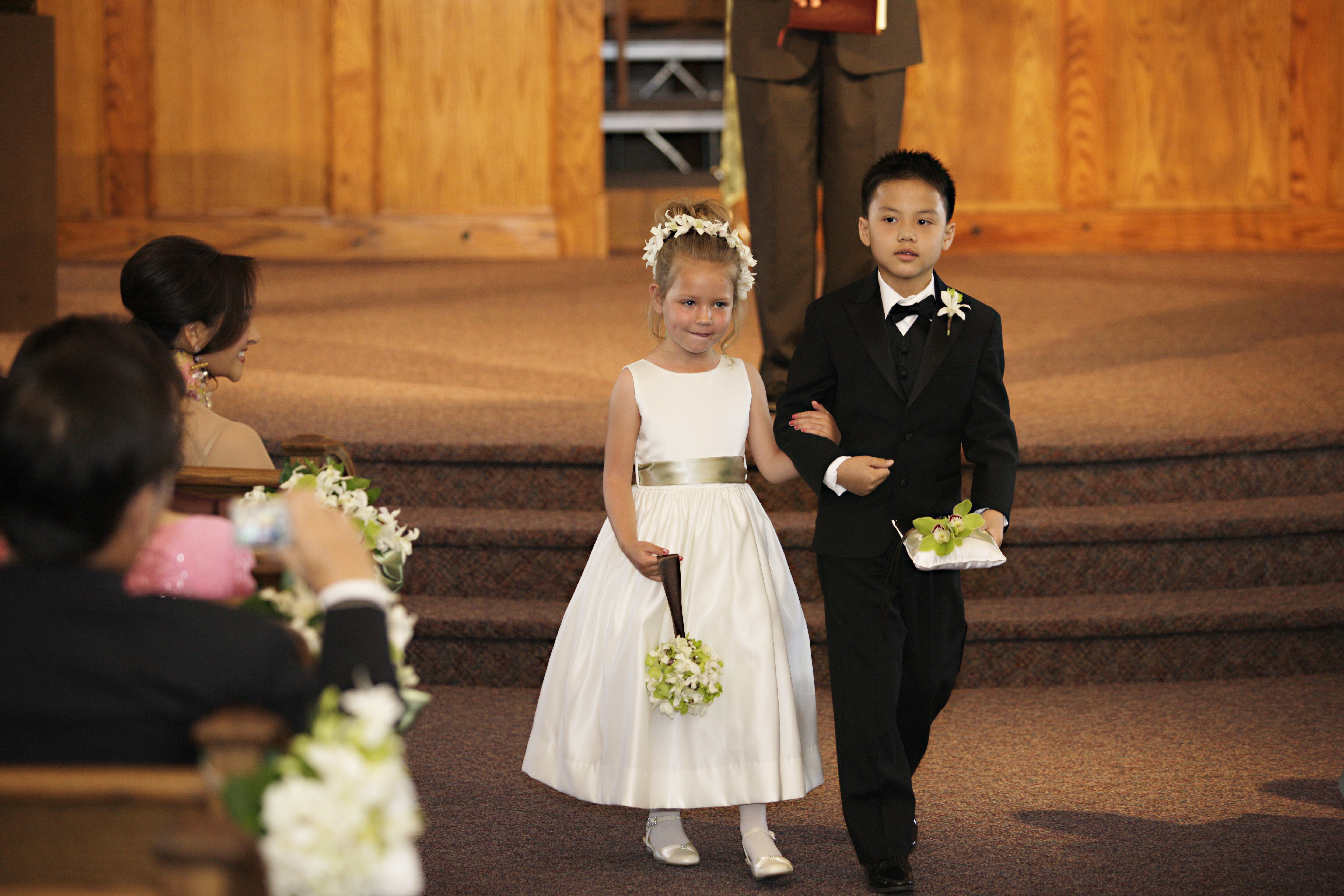 Flowers & Decor, green, brown, Flowers, Orchid, Ring, Flower girl, Boy