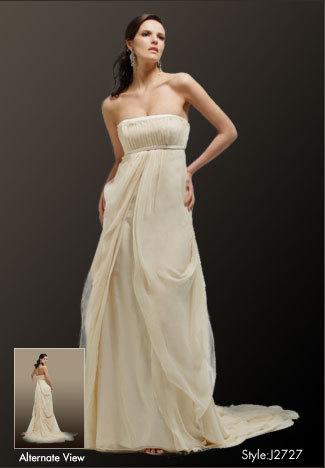 Elegant lady bridal and tuxedo