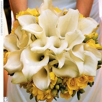yellow, Bouquet, Calla lily