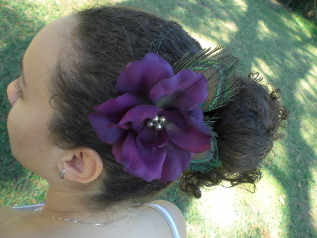 Beauty, Flowers & Decor, Jewelry, Down, Updo, Feathers, Comb, Accessories, Flower, Hair, Swarovski, Hairstyle, Rhinestone, Pearl, Fascinator, Crystals, Pin, Hairpiece, Hair piece, Clip, Up-do, Belle nouvelle designs, Hair style