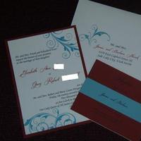 Stationery, invitation, Invitations, So in love invitations, Panel