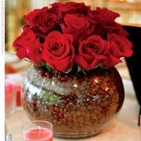 red, Roses, Centerpiece