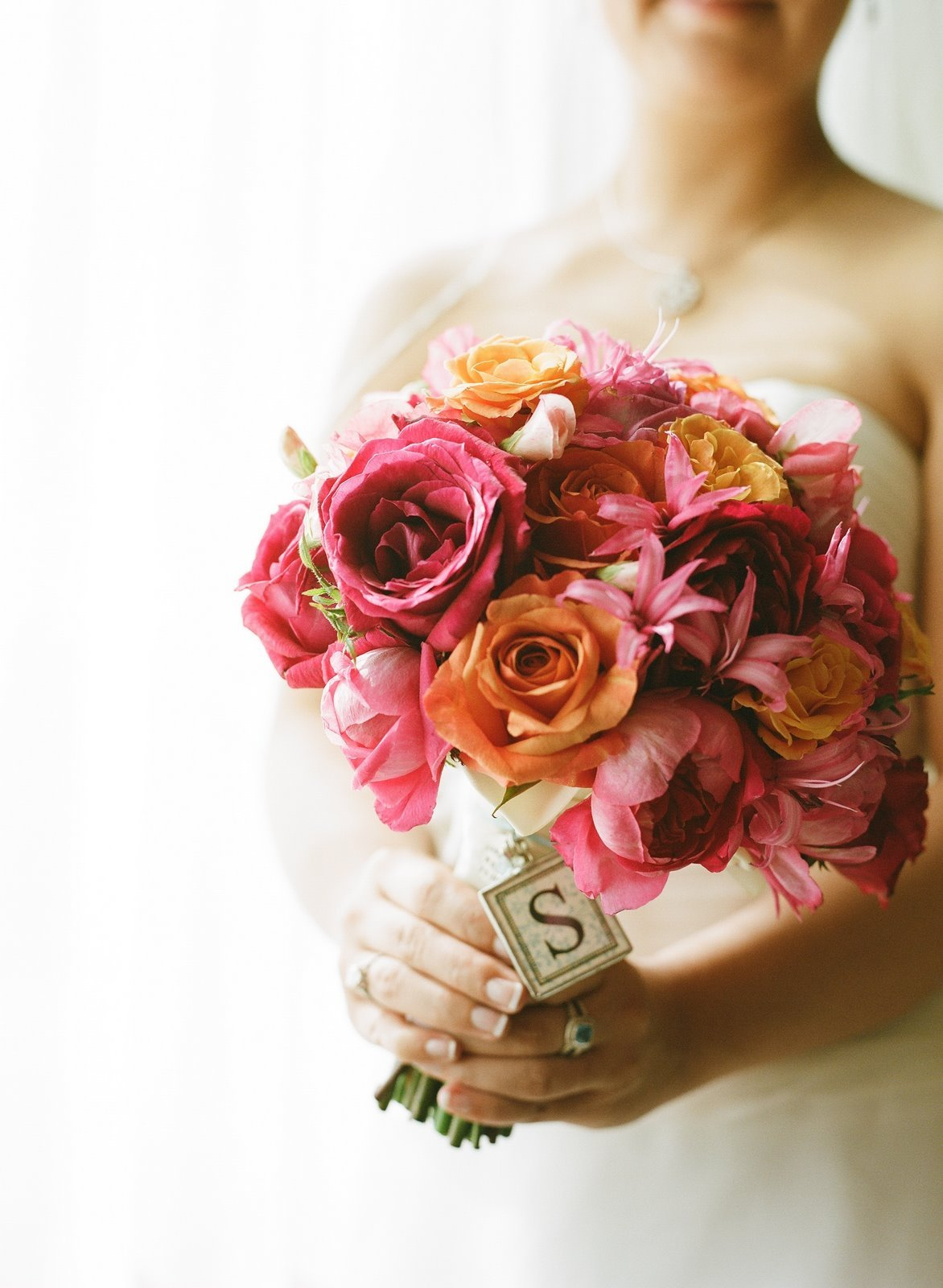 Flowers & Decor, orange, pink, Roses, Flower, Bouquet, Ranunculus