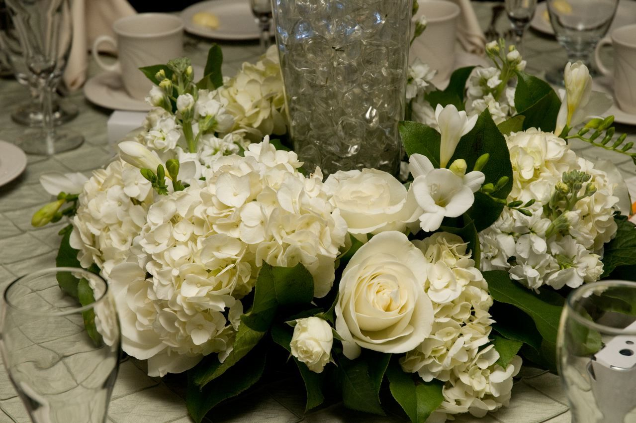 white, green, Fall, Rustic, Centerpiece, Rose, Cream, Hydrangea, Country, Autumn, Commitment