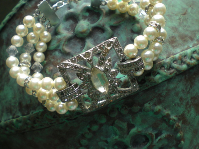 Jewelry, Bracelets, Vintage, Something old, Crystal, Bracelet, Swarovski, Rhinestone, Pearl, Antique, Belle nouvelle designs