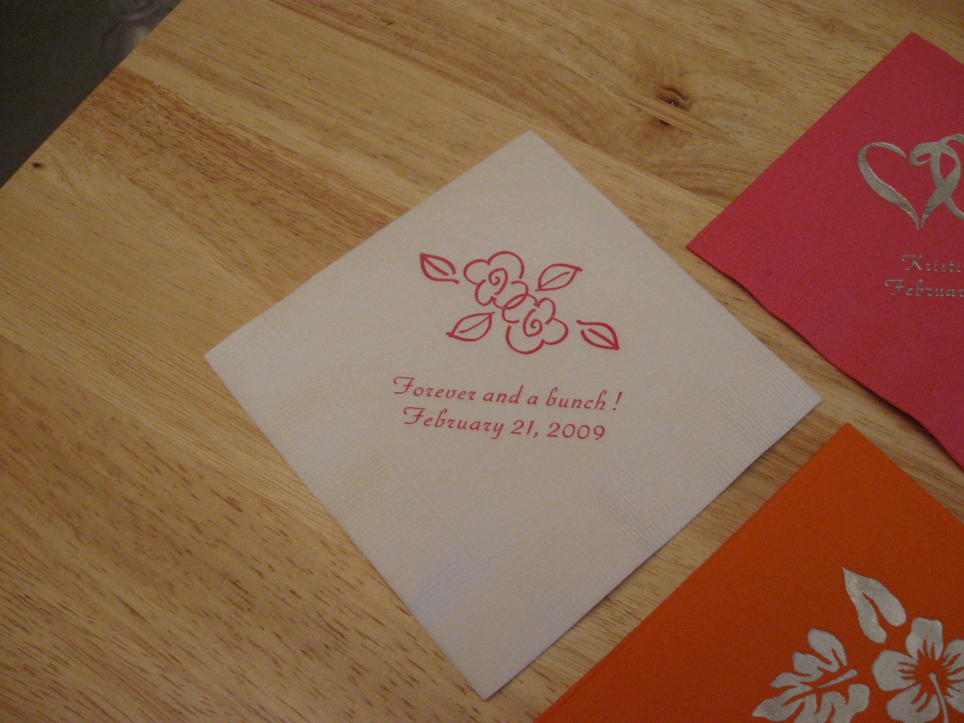 Reception, Flowers & Decor, Cocktail napkin