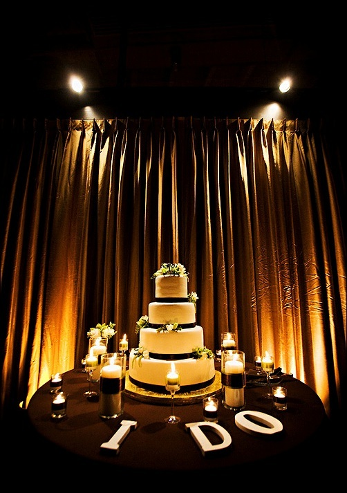 Reception, Flowers & Decor, Decor, Cakes, brown, cake, Lighting, Candles, Cutting, Do, Details, I, Letters, V3 weddings events
