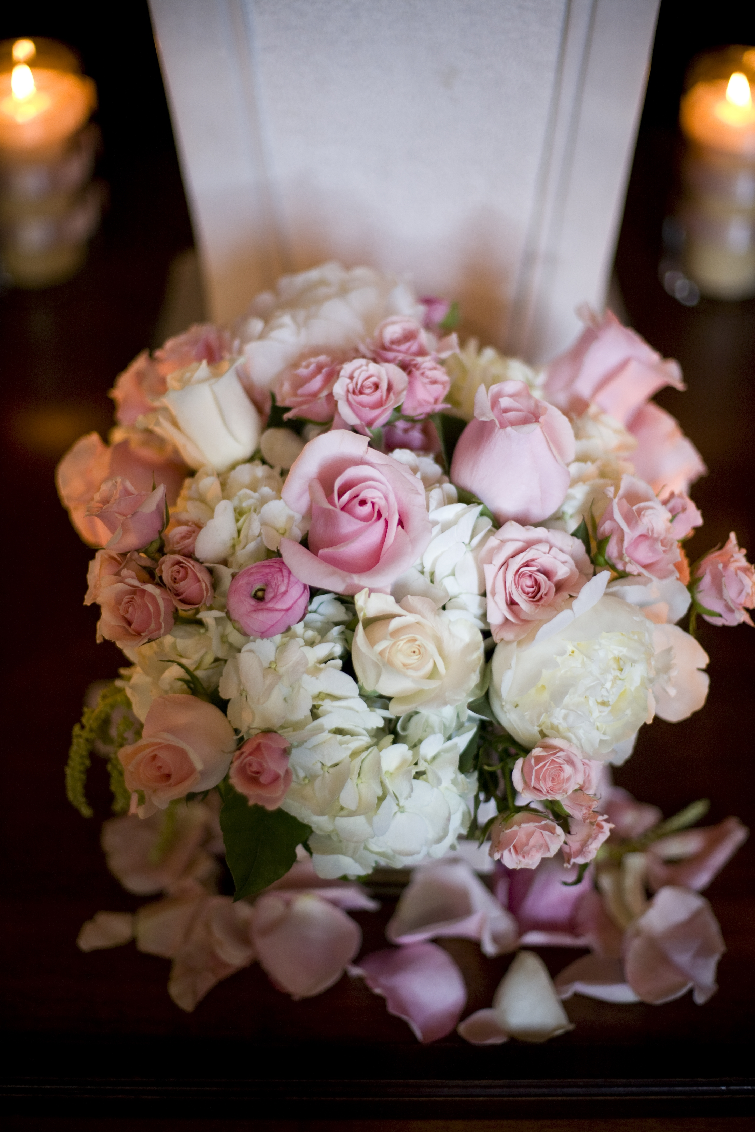 Reception, Flowers & Decor, Decor, white, pink, Flowers, V3 weddings events